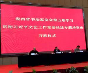 湖南省书法家协会第五期学习贯彻习近平总书记关于文艺工作重要论述专题培训班举行