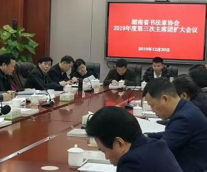 湖南省书法家协会2019年第三次主席团(扩大)会议在长沙召开