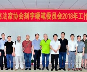 湖南省书法家协会刻字、硬笔委员会工作会议在长沙召开