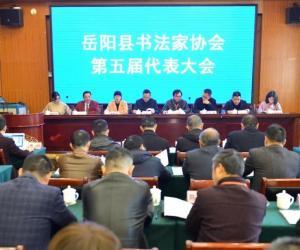 岳阳县书法家协会第五届代表大会召开